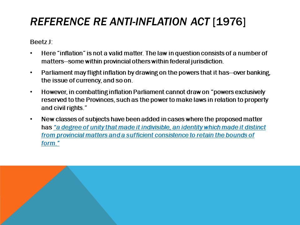 Reference re Anti-Inflation Act [1976]